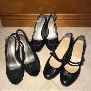 🔥 3 pairs of black heels size 8 🔥